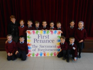 Second Class with their very proud teacher, Mrs. Prendergast.