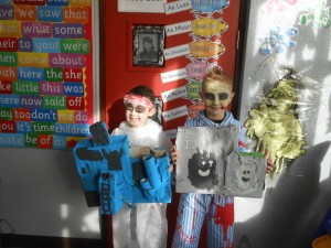 Oisín and Caoimhín with their constructions!