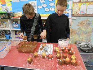 Jack and Cody get creative with some melted chocolate..!