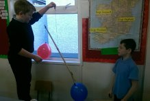 Cian and Christopher conducting their experiments..