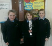 Lila-Ann, Sarah and Molly with their design.