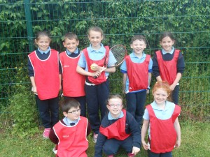 The Red team, Lisa, Jamie, Anna, Harry, Amy, Nathan, Leah and Ella.