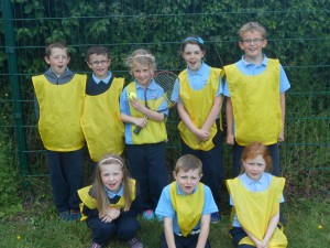 The Yellow team, Reece, Conor, Aoife, Amy, Eoin, Leah, Conor and Charley.