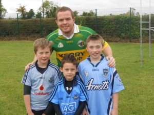 Up for the Match!!! Mr. O'Sullivan was outnumbered by the 'Dubs', Simon, Caoimhín and Liam...