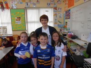 Mrs. Prendergast with Áine, Harry, Molly and Leah.