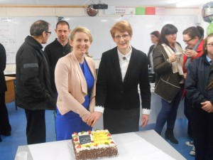 Principal, Mrs.Dempsey and Deputy Principal, Mrs. Prendergast cut the celebratory cake!