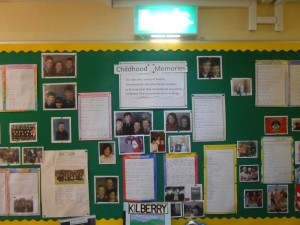 Second and Third Class did a beautiful project entitled 'School Memories'.