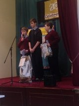 Emmet, Séámus and Ciarán pitching their idea!