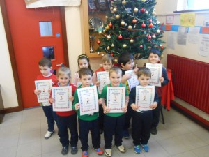 Ms. Cawley's Junior and Senior Infants.