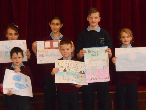 Congratulations to the winners of the 'Be Water Smart' Poster Competition....Cayden, Daragh, Leo, Anna, Sarah and Julianna!