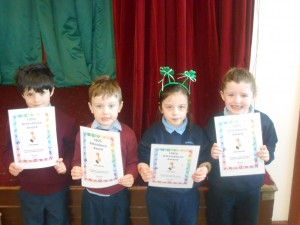 Congratulations to Junior and Senior Infants.