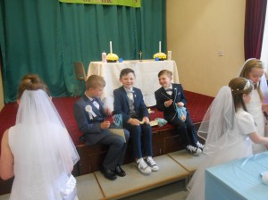 With all the beautiful white dresses on show, the second class boys didn't disappoint and looked very dapper on the day!!