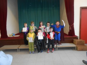 Full Attendance winners Junior and Senior Infants..