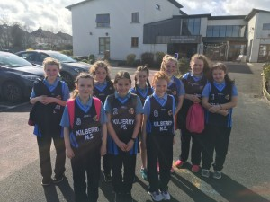 Our fantastic Girls Basketball team including 3 4th class members! The girls played some super basketball,clinching a draw against St. David's in dramatic style just as the whistle sounded!