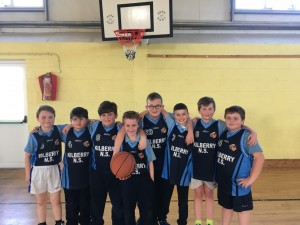 4th Class Boys who beat Kilshanroe in the Basketball Blitz.